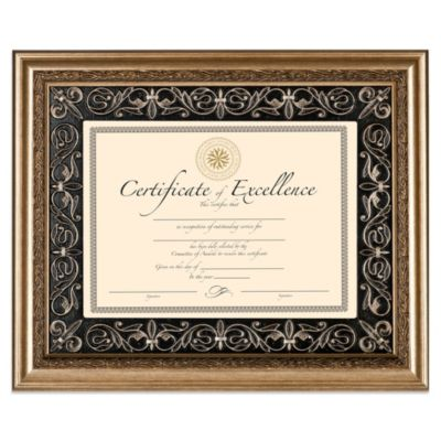 8.5-Inch x 11-Inch Deluxe Document Wood Frame in Florence Gold