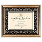 8.5-Inch x 11-Inch Deluxe Document Frame in Florence Gold
