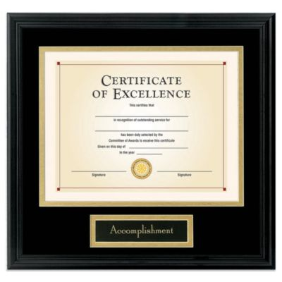 Dax 8.5-Inch x 11-Inch Interchangeable Sentiments Document Frame