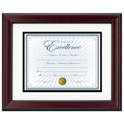 8.5-Inch x 11-Inch Recognition Document Frame in Rosewood and Black