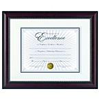 8.5-Inch x 11-Inch Recognition Document Frame in Prestige Rosewood and Black