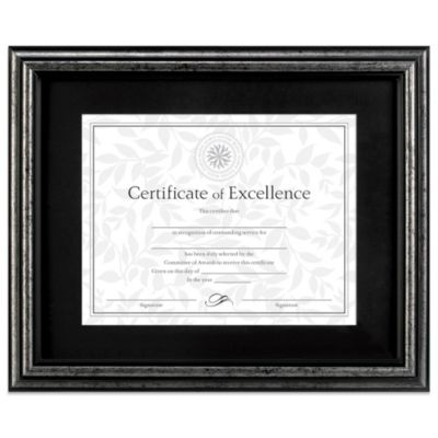 8.5-Inch x 11-Inch Recognition Document Frame in Brushed Charcoal