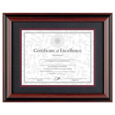 8.5-Inch x 11-Inch Recognition Document Frame in Classic Rosewood and Black