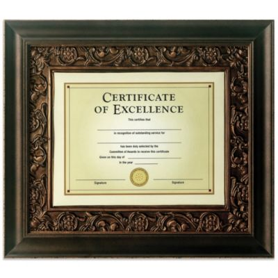 Tuscan Bronze 13-Inch x 15-Inch Document Frame