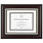 8.5-Inch x 11-Inch Matted Document Frame in Burgundy w/Linen Insert