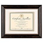 8.5-Inch x 11-Inch Matted Document Frame in Genova Black
