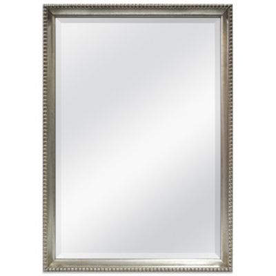 Beaded Edge Decorative Mirror in Silver