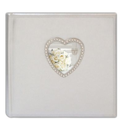 Elsa L Faux Leather with Metal Heart 2 Up Photo Album