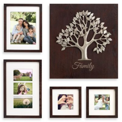 Wallverbs™ Aspen/Artisan Wood Tree Box Decorative 5-Piece Photo Frame Set in Espresso