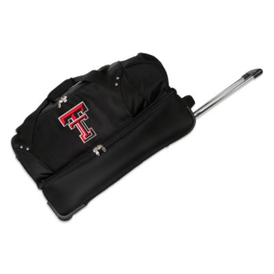 Texas Tech University 27-Inch Drop Bottom Rolling Duffel Bag