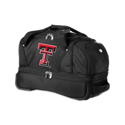 Texas Tech University 22-Inch Drop Bottom Wheeled Duffel Bag