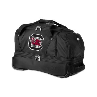 NCAA University of South Carolina Gamecocks 22-Inch Drop Bottom Rolling Duffel Bag