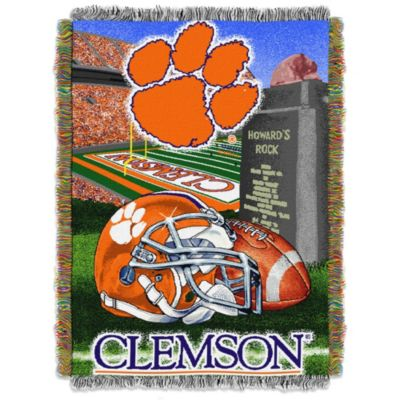Clemson University 48-Inch x 60-Inch Tapestry Throw Blanket