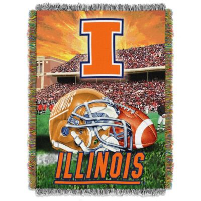 University of Illinois Tapestry Throw Blanket