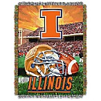 University of Illinois 48-Inch x 60-Inch Tapestry Throw Blanket