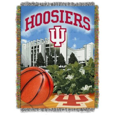 Indiana University 48-Inch x 60-Inch Tapestry Throw Blanket