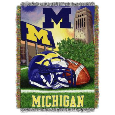 University of Michigan 48-Inch x 60-Inch Tapestry Throw Blanket