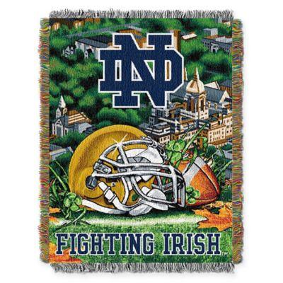 Notre Dame University Tapestry Throw Blanket
