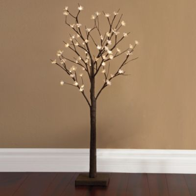 Plug-In 4-Foot LED Lighted Cherry Blossom Tree