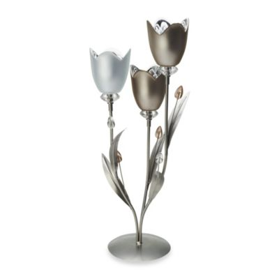 Mikasa® 3-Candle Tulip Tealight Holder Centerpiece
