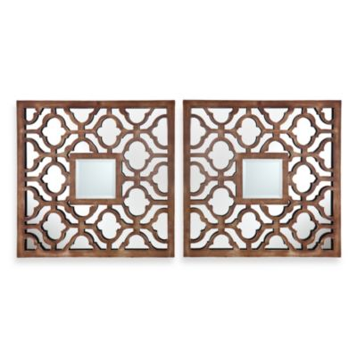Bronze Decorative Mirror Set