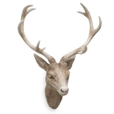 Resin Deer Head Wall Art in Brown