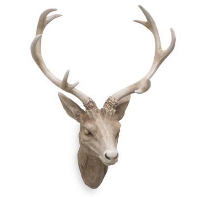 Resin Deer Head Wall Art in Brown