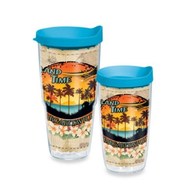 Tervis® Margaritaville Island Time 16-Ounce Wrap Tumbler with Blue Lid