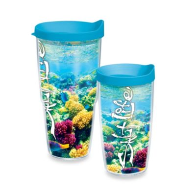 Tervis® Salt Life® Coral Reef 16-Ounce Wrap Tumbler with Blue Lid