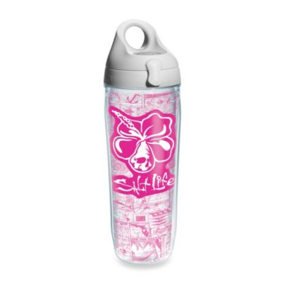 Tervis® Salt Life® 24-Ounce Pink Hibiscus Water Bottle Wrap with Lid