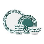Dansk® Lotta Elope Teal 4-Piece Place Setting