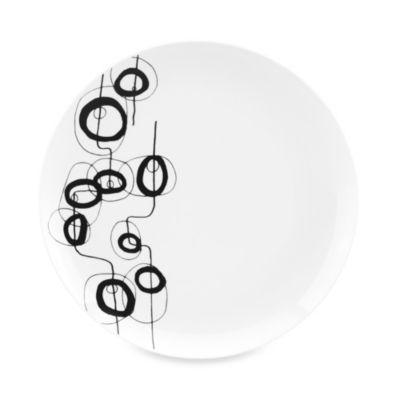 Dansk® Lotta Shake 10.5-Inch Dinner Plate in Black