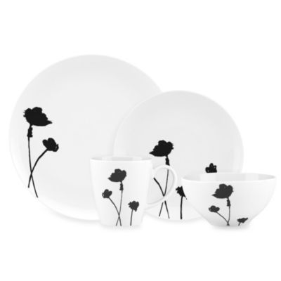Dansk® Lotta Stilla 4-Piece Place Setting in Black