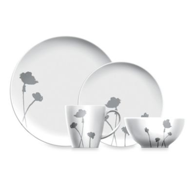 Dansk® Lotta Stilla Grey 4-Piece Place Setting