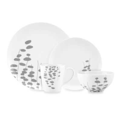Dansk® Lotta Wisp 4-Piece Place Setting in Grey