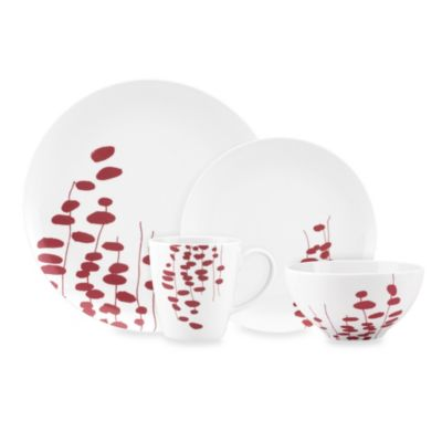 Dansk Lotta Wisp 4-Piece Place Setting in Raspberry