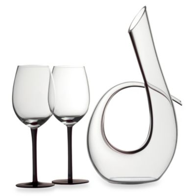 Maxwell & Williams™ Sensations Decanter and Wine Glass Set in Black
