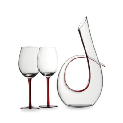 Maxwell & Williams™ Sensations Decanter and Wine Glass Set in Red
