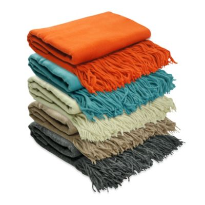 Pur Cashmere Merino Wool Throw in Aqua