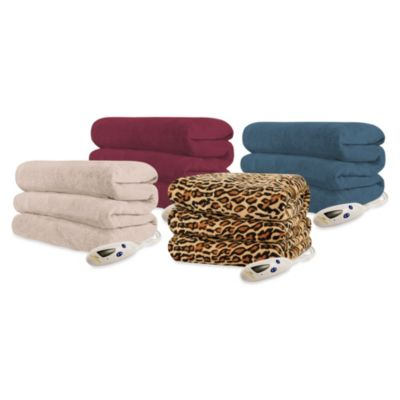 Biddeford Blankets® Micro Plush Heated Throw Blanket in Leopard
