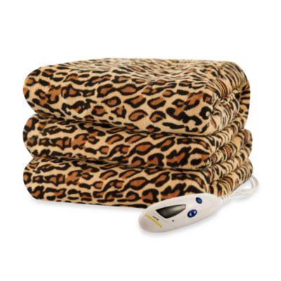 Biddeford Blankets® Micro Plush Heated Throw Blanket in Leopard