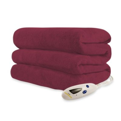 Biddeford Blankets® Micro Plush Heated Throw Blanket in Red