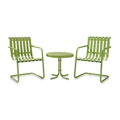 Crosley Gracie 3-Piece Metal Outdoor Seating Set in Alabaster White