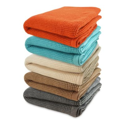 Pur Cashmere Thermal Throw in Persimmon