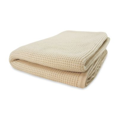 Pur Cashmere Thermal Throw in Cream