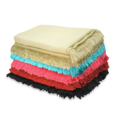 Pur Cashmere TissuTissu Throw in Black