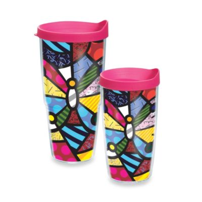 Tervis® Romero Britto Butterfly 16–Ounce Wrap Tumbler with Lid