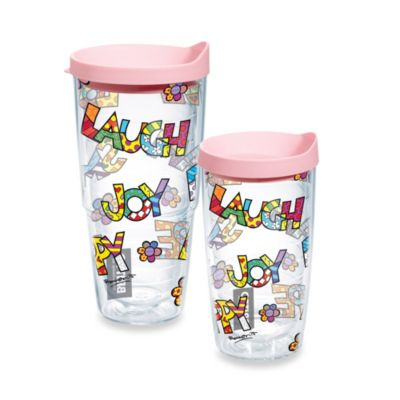 Tervis® Romero Britto Words 16–Ounce Wrap Tumbler with Lid