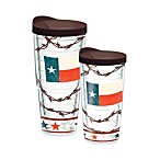 Tervis® Texas Flag Tumbler with Brown Lid
