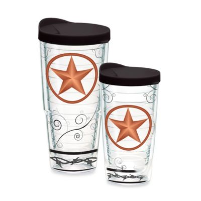 Tervis® Texas Star 16-Ounce Tumbler with Brown Lid